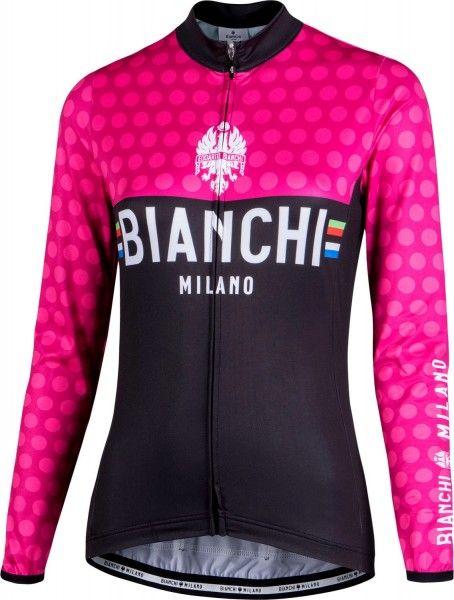 Bianchi Milano TERMENO Damen Langarmtrikot schwarz/pink 1