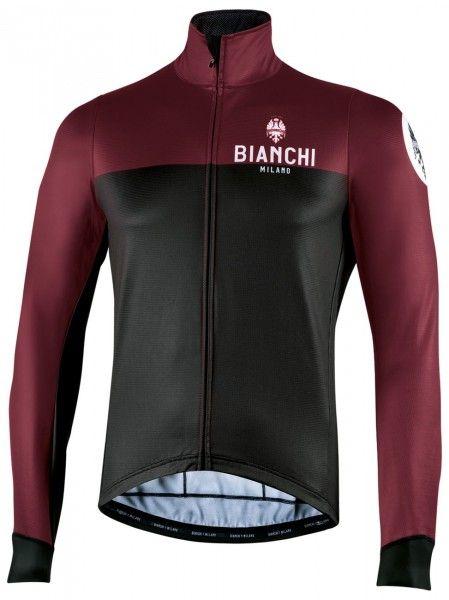 Bianchi Milano Delebio Fahrrad Winterjacke schwarz/weinrot 1