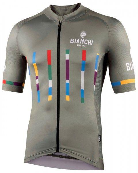 Bianchi Milano FANACO Fahrrad Kurzarmtrikot olivgrün 1