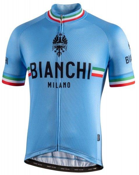 Bianchi Milano Isalle Radtrikot kurzarm blau 4180 1