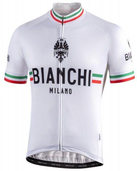Bianchi Milano Isalle Radtrikot kurzarm weis 4020 1