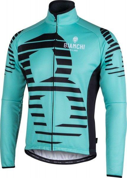 Bianchi Milano Sebato Fahrrad Winterjacke schwarz/celeste (I18-4300) Größe XXL (6)