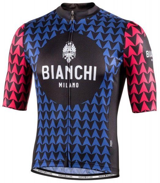 Bianchi Milano Massari Radtrikot kurzarm blau 4250 1