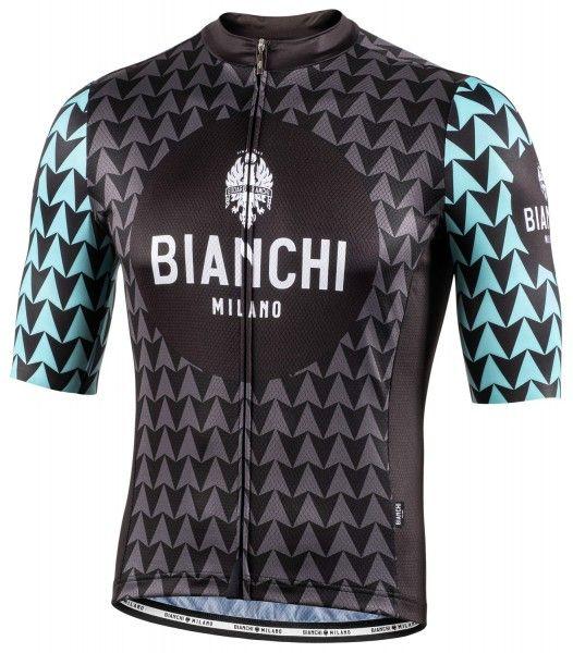 Bianchi Milano Massari Radtrikot kurzarm schwarz 4010 1