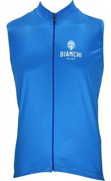 Bianchi Milano Moreno Fahrradtrikot ärmellos royalblau 1