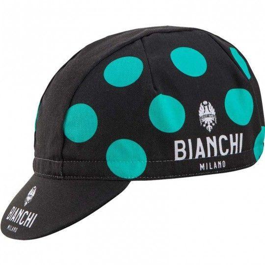 Bianchi Milano Neon - Radmütze schwarz/gepunktet (E19-4130) Universalgröße