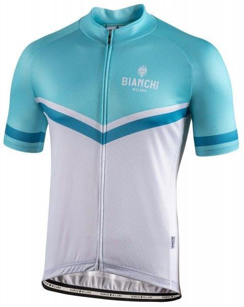 Bianchi Milano OLLASTU short sleeve cycling jersey celeste/white (E20-4020)