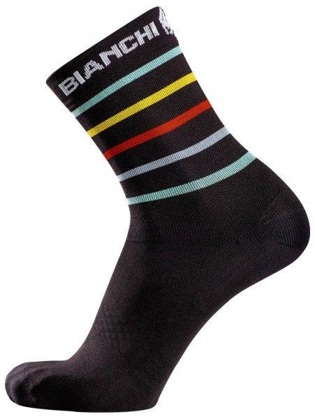 Bianchi Milano ORETO Fahrradsocken schwarz stripes