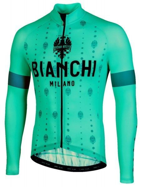 Bianchi Milano Perticara Radtrikot langarm celeste 1