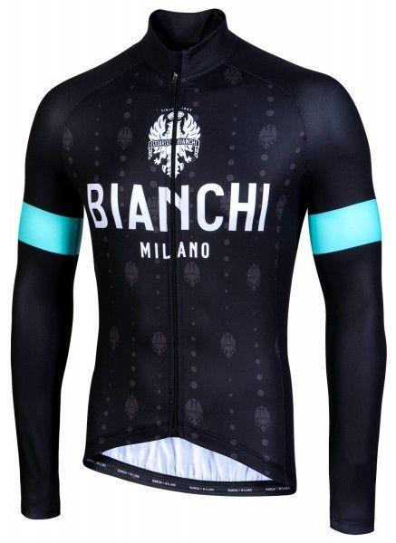 Bianchi Milano Perticara Radtrikot langarm schwarz 1