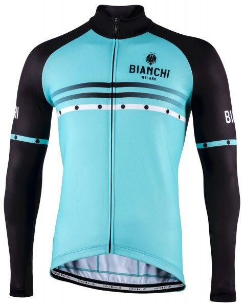 Bianchi Milano Piantedo Fahrrad Langarmtrikot celeste 1