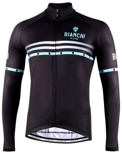Bianchi Milano Piantedo Fahrrad Langarmtrikot schwarz 1