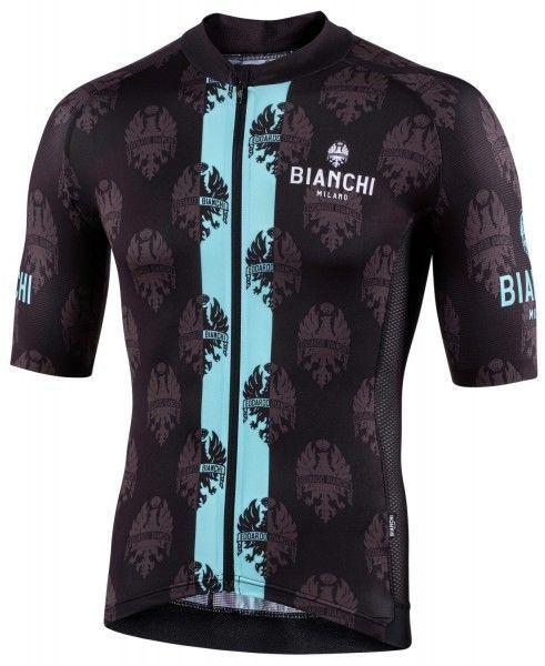 Bianchi Milano Roncaccio Radtrikot kurzarm schwarz 4000 1