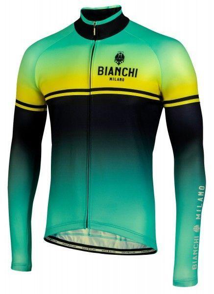 Bianchi Milano Santerno Radtrikot langarm celeste/gelb 1