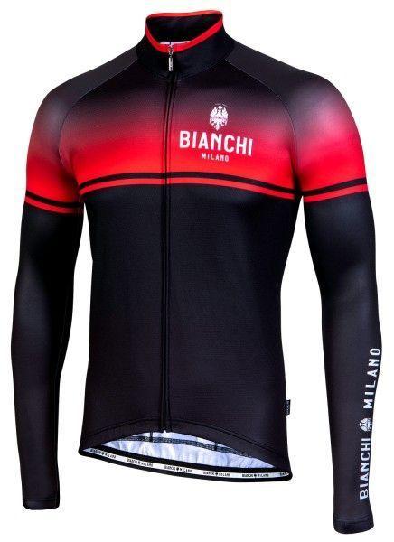 Bianchi Milano Santerno Radtrikot langarm schwarz rot 1