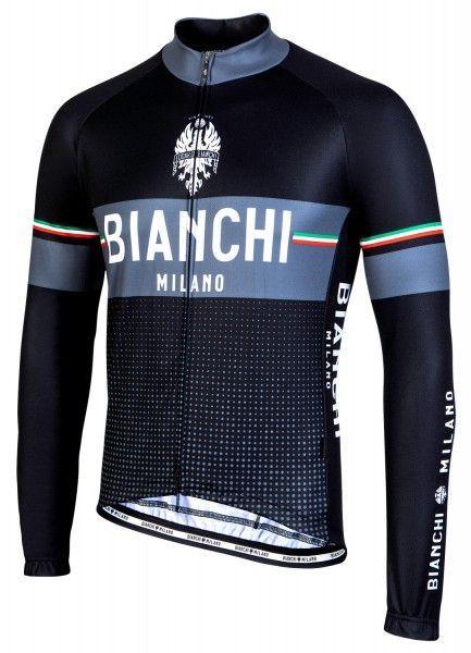 Bianchi Milano Sillaro Radtrikot langarm schwarz 1