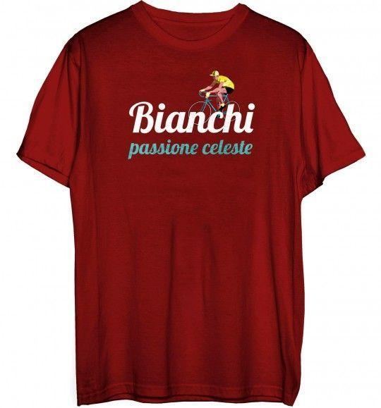 Bianchi Passione Vintage T-Shirt bordeaux (C9621982-6-BD) Größe M (3)