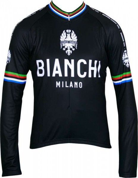 Bianchi Milano Langarmtrikot LEGGENDA schwarz 1