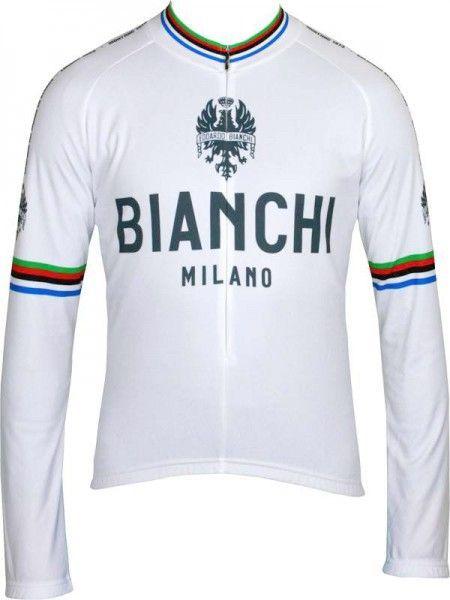 Bianchi Milano LEGGENDA long sleeve jersey - Campione del Mondo white (I19-4020)