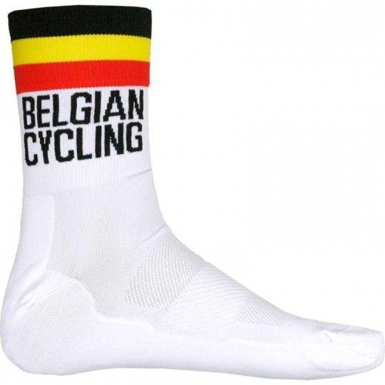 Belgien Nationalteam 2020 Fahrrad Socke weiß 1