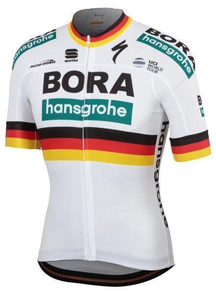 BORA-hansgrohe deutscher Meister 2019 Radtrikot kurzarm (langer Reißverschluss) - Sportful Radsport-Profi-Team Größe XL (5)