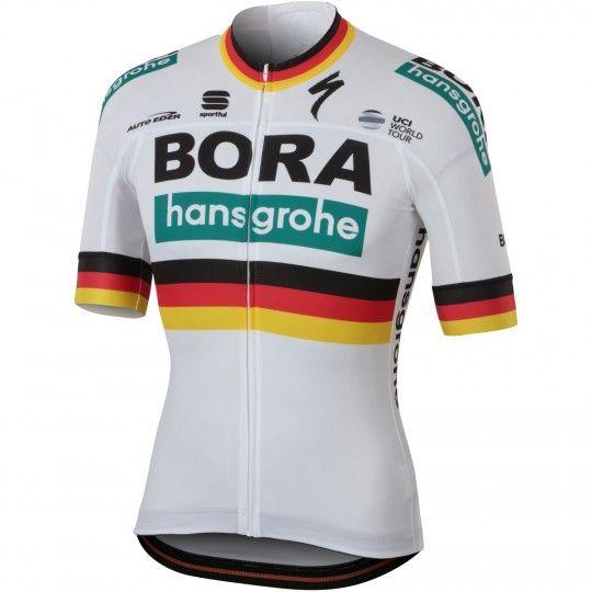 BORA-hansgrohe deutscher Meister 2018/19 Radtrikot kurzarm (langer Reißverschluss) - Sportful Radsport-Profi-Team Größe XL (5)