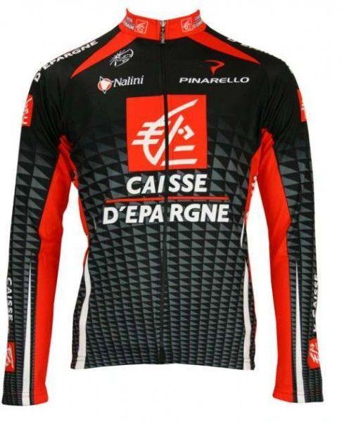 Caisse d'Epargne 2010 Nalini Radsport-Profi-Team - Radsport-Langarmtrikot Größe XXL (6)