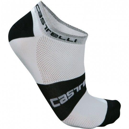 Castelli LOWBOY - Radsocken weiß/schwarz L/XL (40-43)