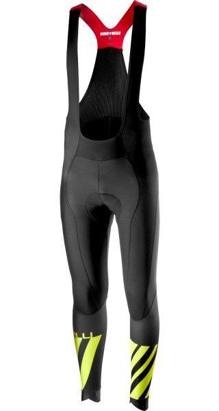 Castelli LW BOBTIGHT Trägerhose lang schwarz/neongelb 1
