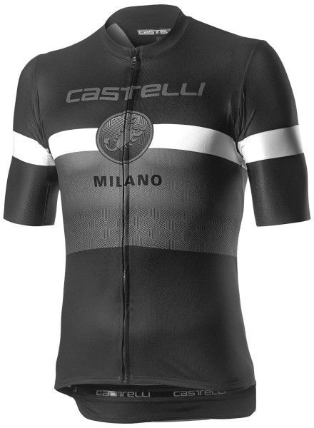 Castelli MILANO Radtrikot kurzarm schwarz 1