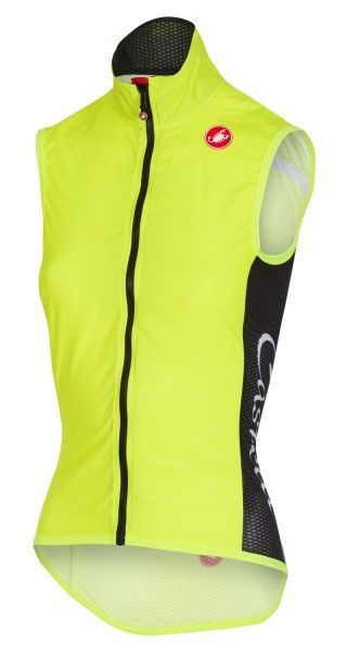 Castelli PRO LIGHT WIND VEST - womens cycling gilet yellow fluo