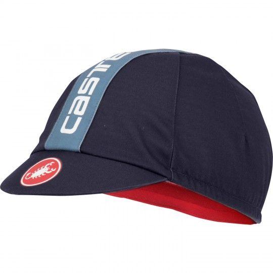 Castelli RETRO 3 CAP - Radmütze dunkel stahlblau (dark steel blue) Universalgröße