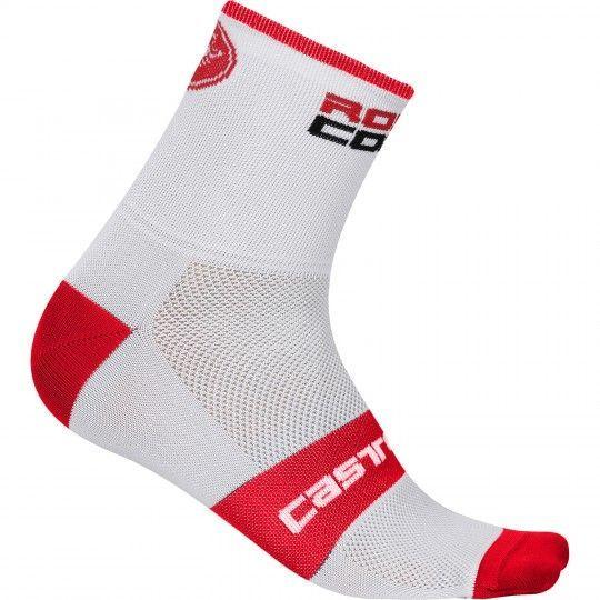 Castelli ROSSO CORSA 13 - Radsocken weiß/rot L/XL (40-43)