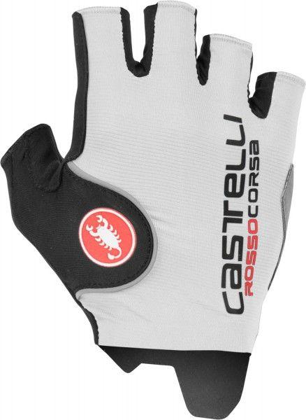 Castelli ROSSO CORSA PRO Fahrradhandschuhe kurzfinger weiß Größe L (9)