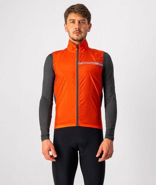 Castelli SQUADRA STRETCH VEST - Fahrradweste orange-rot 1