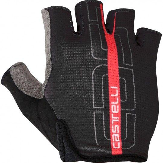 Castelli TEMPO - Fahrradhandschuhe kurzfinger schwarz/rot Größe XL