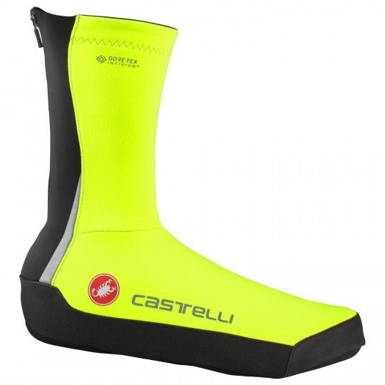 Castelli INTENSO UL cycling overshoes neon yellow