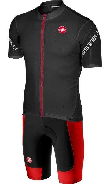 Castelli ENTRATA 3 Radsport-SET schwarz/rot 1