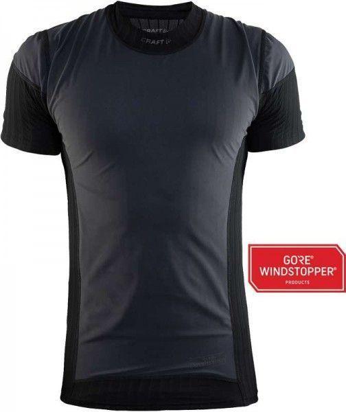 Craft Active Extreme 2.0 Windstopper Kurzarm Unterhemd schwarz 1