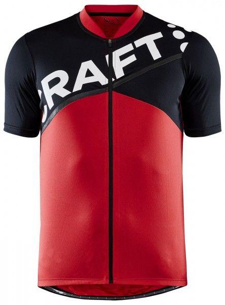 Craft Core Endurance Logo Fahrrad Kurzarmtrikot rot/schwarz 1