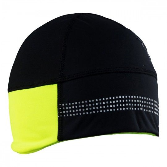 Craft Shelter Hat 2.0 cycling helmet liner black/yellow fluo (1905547-999851)