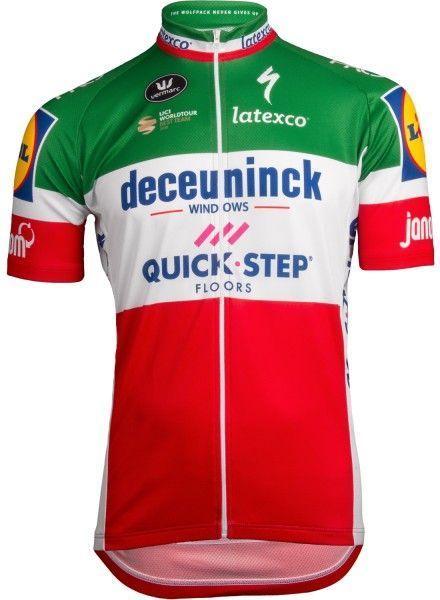 Deceuninck Quick-Step italienischer Meister 2019 Radtrikot 1