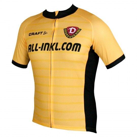 Dynamo Dresden Heimtrikot Radtrikot gelb schwarz 1