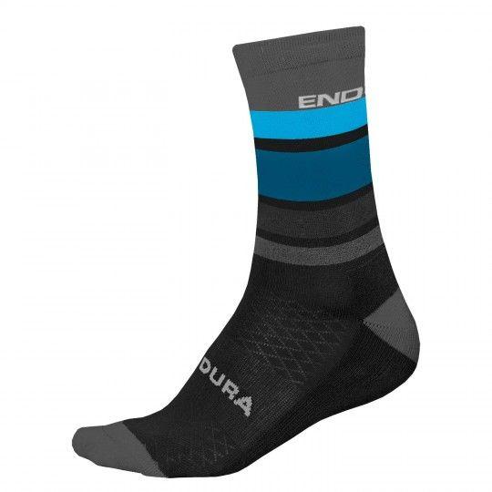 Endura BaaBaa Merino Stripe cycling socks black (E1234BK)