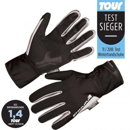 ENDURA DELUGE II long finger cycling gloves (warm lined) black (E1145BK)