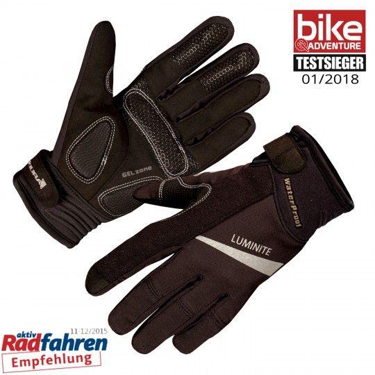 Enudra LUMINITE Fahrradhandschuhe langfinger schwarz 1