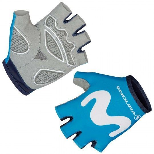 MOVISTAR 2019 short finger cycling gloves - Endura professional cycling team