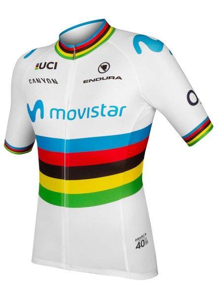 Movistar 2019 Weltmeister Radtrikot kurzarm 1