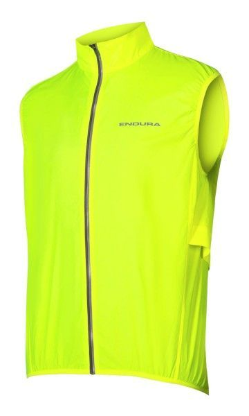 Endura PAKAGILET windproof cycling gilet neon yellow (E9151YV)