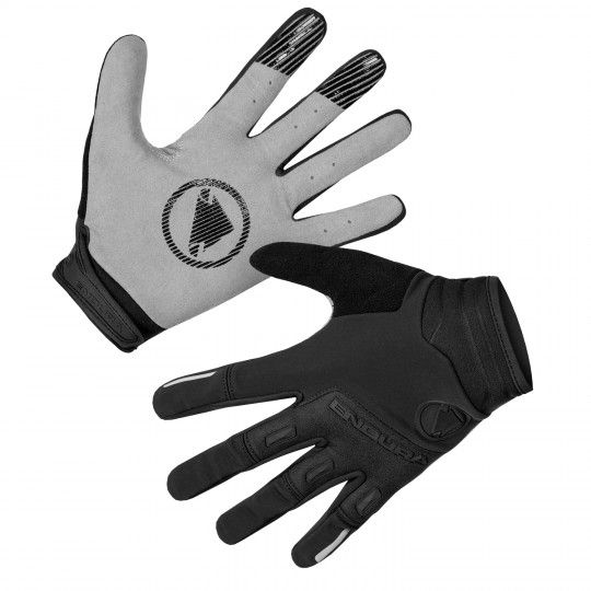 Endura SINGLETRACK long finger cycling gloves (windproof) black (E1184BK)